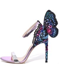 Sophia Webster - Chiara Embroidery Sandal In Silver/blue Multi - Lyst