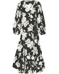 Ganni - Women's Kochhar Print Long Dress - Lyst