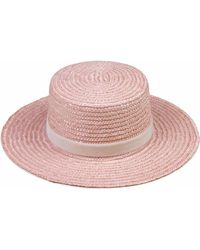Lack of Color - The Paradiso Hat In Pastel Pink Straw - Lyst