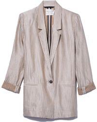 Giada Forte - Shining Stripe Jacket In Notte - Lyst
