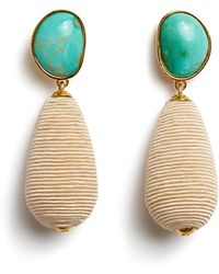 Lizzie Fortunato - Turquoise Drop Earrings - Lyst