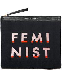 Lizzie Fortunato - Oversized Pouch In Feminist - Lyst