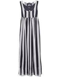 Marc Jacobs - Scoop Neck Empire Waist Dress In Black/ivory - Lyst