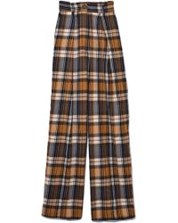 Forte Forte - Wool Tartan Trousers In Ambra - Lyst
