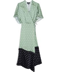 VEDA - Tuscan Silk Dress In Jade/black - Lyst
