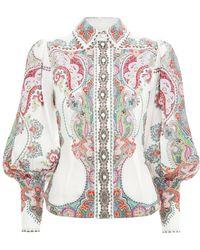 Zimmermann - Ninety-six Filigree Shirt In Lennon Paisley - Lyst