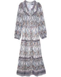 Sea - Maya Long Sleeve Dress In Cream Multi - Lyst