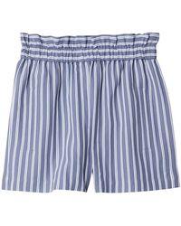 Tibi - Striped Twill Shorts - Lyst