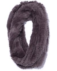 Yves Salomon - Rex Rabbit Snood In Grey - Lyst