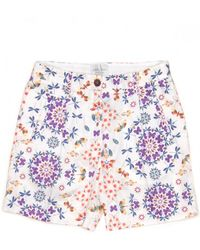 Giada Forte - Butterfly Print Shorts - Lyst