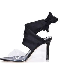 Monse - Scarf Ankle Wrap Shoes In Black - Lyst