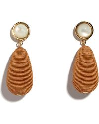 Lizzie Fortunato - Terracotta Drop Earrings - Lyst