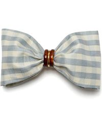 Lizzie Fortunato - Good Hair Day Bow In Pale Blue - Lyst