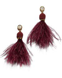 Lizzie Fortunato - Parker Earrings In Burgundy - Lyst
