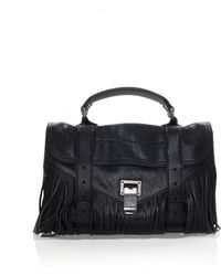 Proenza Schouler - Ps1 Tiny Fringe In Black - Lyst