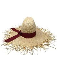 Gigi Burris Millinery - Ete Hat In Natural/cherry - Lyst