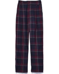 SUNO - Pleat Front Trousers In Wine - Lyst
