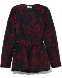 Co. - Llarless Peplum Jacket In Black/plum - Lyst