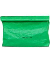 Simon Miller - Xl Lunchbag 30cm Clutch In Neon Green - Lyst