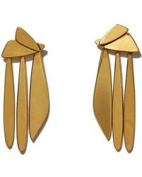 Lizzie Fortunato - Gold Sail Earrings - Lyst