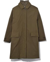 Aspesi - Technical Cotton Coat In Military - Lyst