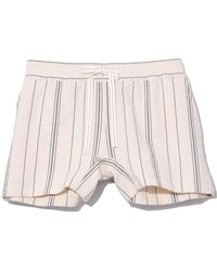 See By Chloé - Stripe Drawstring Shorts In White/black - Lyst