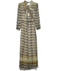Forte Forte - Printed Chiffon Silk Dress In Notte - Lyst