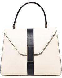 Valextra - Iside Mini Bag In White/black - Lyst