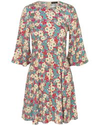 Stine Goya - Jasper Dress In Daisy Field Teal - Lyst