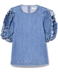 Ulla Johnson - Tessie Top In Mid Wash - Lyst