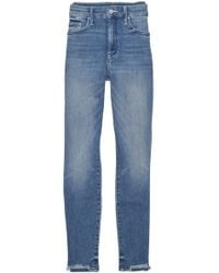 Mother - Blue High Waisted Looker Ankle Chew Jean - Lyst