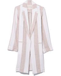 Mara Hoffman - Bia Jacket In Cream Khaki - Lyst