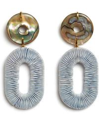 Lizzie Fortunato - Adriatic Earrings In Pale Blue - Lyst