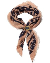 Lizzie Fortunato - Graphic Arrows Scarf With Stone - Lyst