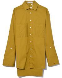Palmer//Harding Boyfriend Shirt In Moss Poplin