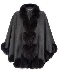 Harrods - Fox Fur Spiral Trim Cape - Lyst