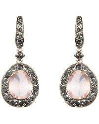 Annoushka - Dusty Diamonds Rose Quartz Earrings - Lyst