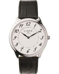Links of London - Stainless Steel Narrative Watch 40mm, Black - Lyst