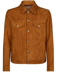 7 For All Mankind - Suede Trucker Jacket - Lyst