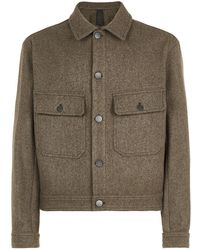 Lemaire - Felted Wool Blouson Jacket - Lyst