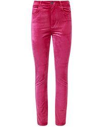 PAIGE - Hoxton Velvet Jeans - Lyst