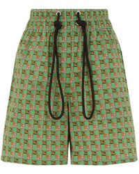 Burberry - Triple Archive Print Shorts - Lyst