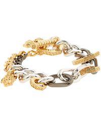 Versace | Palladio Multi Chain Bracelet, One Size | Lyst