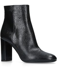 Saint Laurent - Leather Loulou Ankle Boots 95 - Lyst