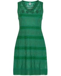 M Missoni - Tonal Motif Mini Dress - Lyst
