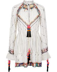 Hemant & Nandita - Tie Waist Bohemian Dress - Lyst