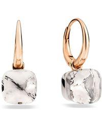 Pomellato - Nudo White Topaz Rose Gold Earrings - Lyst