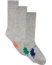 Ralph Lauren - Logo Trainer Socks - Lyst