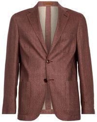 Corneliani - Silk Herringbone Jacket - Lyst