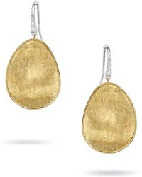 Marco Bicego - Lunaria Gold Drop Earrings - Lyst